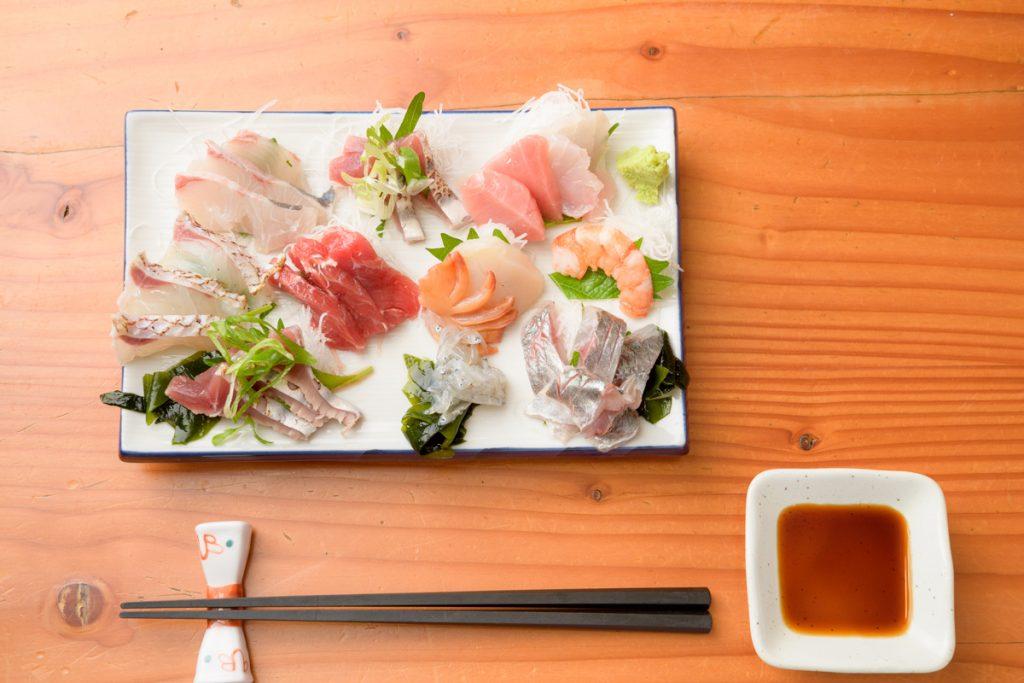 魚上松 お刺身盛り合わせ ディナーメニュー 江戸川区 篠崎 都営新宿線 グルメ