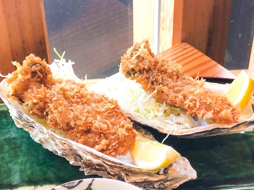 カキフライ御膳 魚上松 ランチメニュー 江戸川区 都営新宿線 グルメ 篠崎